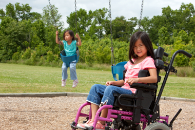 Image of child in a wheelchair