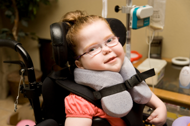 Image of a child in a wheelchair
